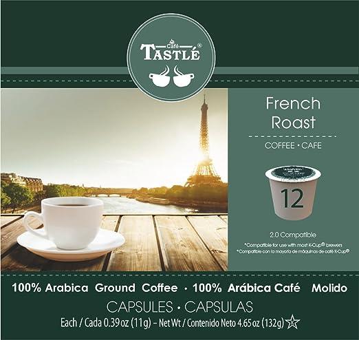 Cafe Tastlé French Roast Single Serve Coffee, 12 Count: Amazon.com: Grocery & Gourmet Food