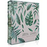 A+Selected Art Photo Album Slip In Case with 200 Pockets 6 X 4 Inch - Family Friends Memories Picture Photograph Albums Book - Green