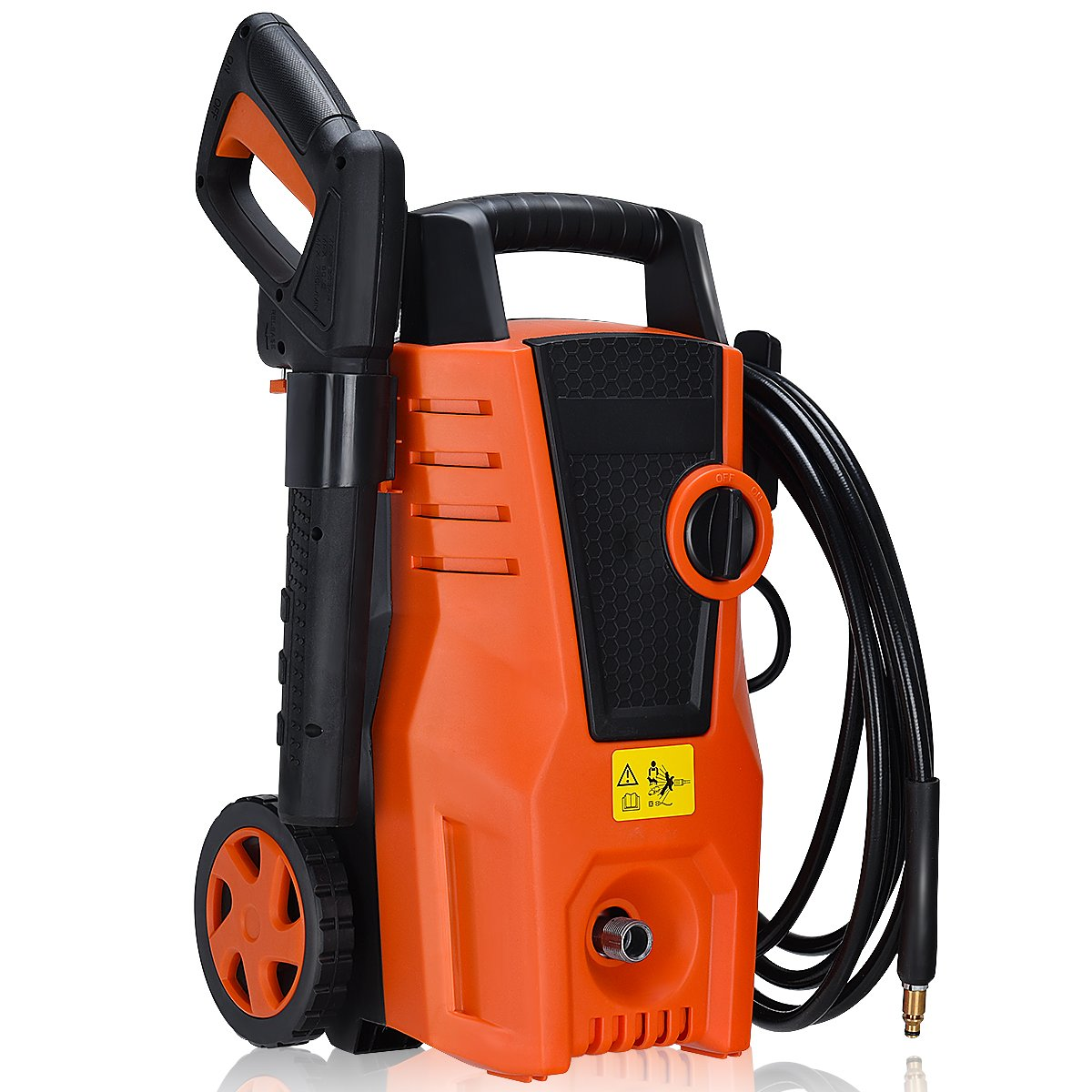 Goplus Electric High Pressure Washer 1400PSI Power Pressure Washer Machine with Hose Reel & Soap Foam Cannon