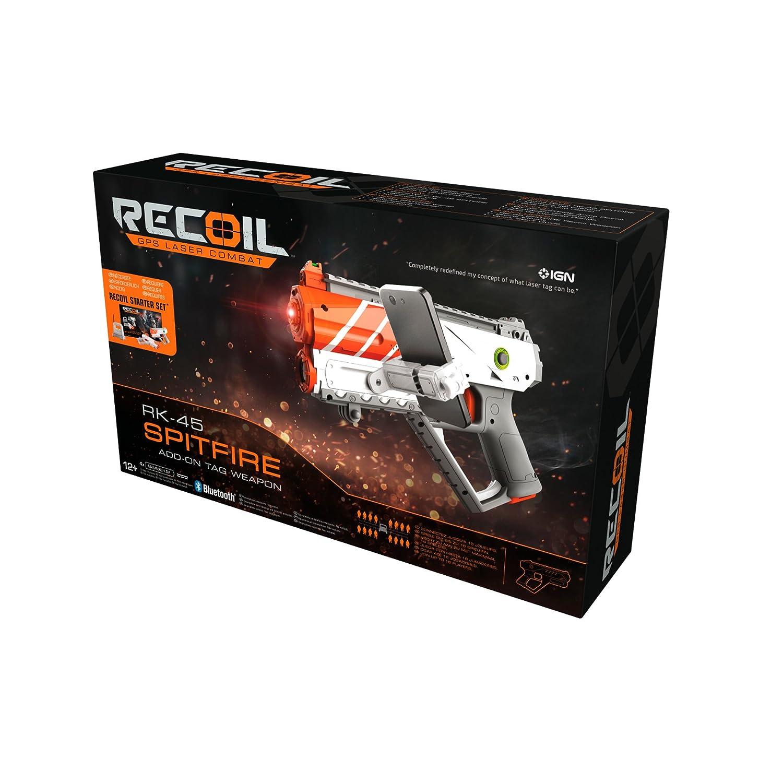 Pistola Spitfire RK45 90517 Juego de Pistolas Laser por GPS Recoil