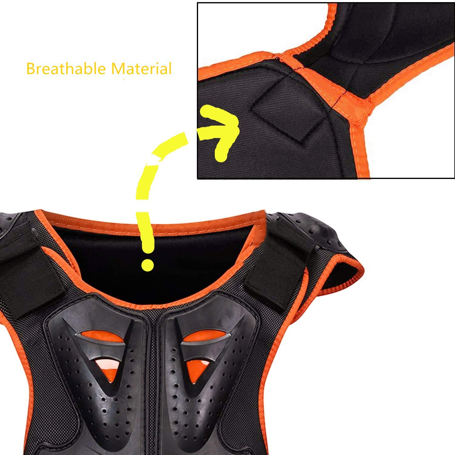 Kids Body Chest Spine Protector Armor Protective Vest Reflective Gear For Dirt Bike Skiing Skating Sport Size Medal by color tree (Image #5)