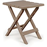 Camco 51883 Taupe Regular Adirondack Portable Outdoor Folding Side Table, Perfect for The Beach, Camping, Picnics, Cookouts and More, Weatherproof and Rust Resistant - Sage