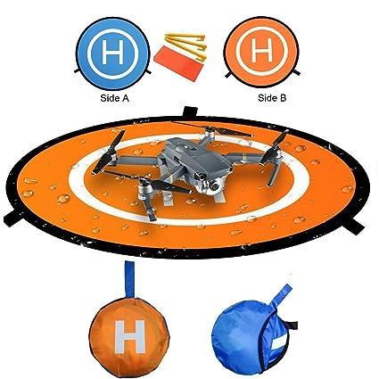 RC Drone Landing Pad, Diámetro 55cm Helipuerto plegable Dronepad ...