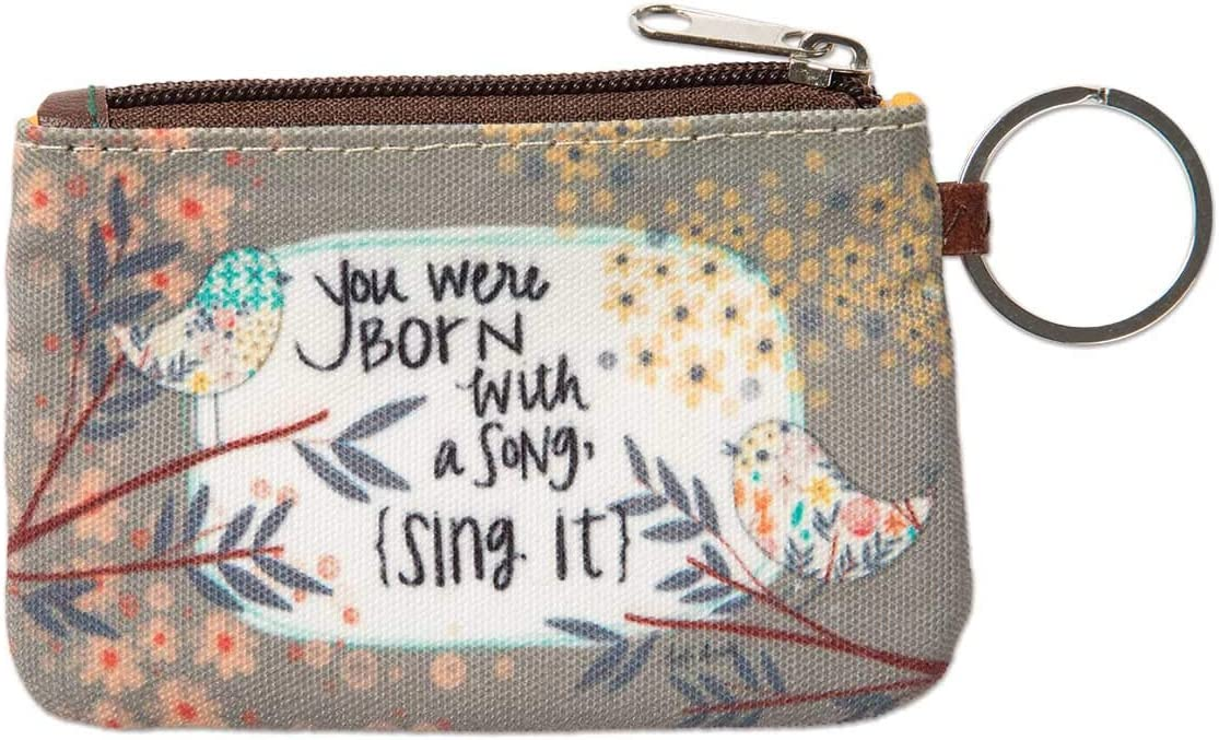 Brownlow Gifts Simple Inspirations Zippered Slim Wallet with Keychain and ID Window, 5 x 3.5-Inches, Love You More: Home & Kitchen