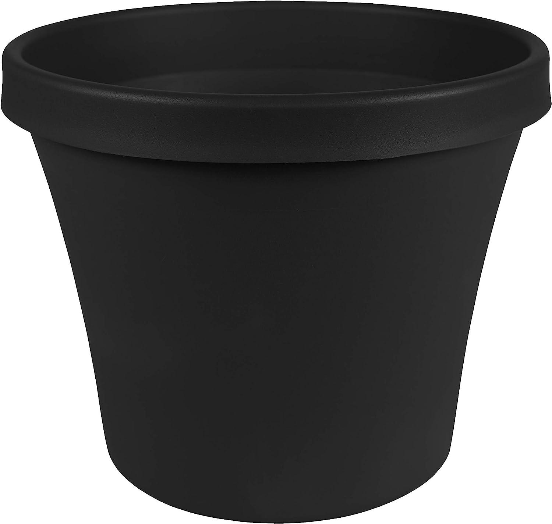 Bloem Terra Pot Planter (TR0600), Black, 6