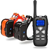 Katze Tatze Dog Training Collar IP67 Waterproof and Rechargeable 330 yd Remote Control Shock Collar with Beep, Vibration, LED Lighting for Dogs, Electric Collar Receiver Included
