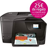 HP Officejet Pro 8715 – Impresora multifunción (Tinta Color, WiFi, fax, copiar, escanear, impresión a Doble Cara, 1200 x 1200 PPP, A4, Incluido 3 Meses de HP Instant Ink) Color Negro