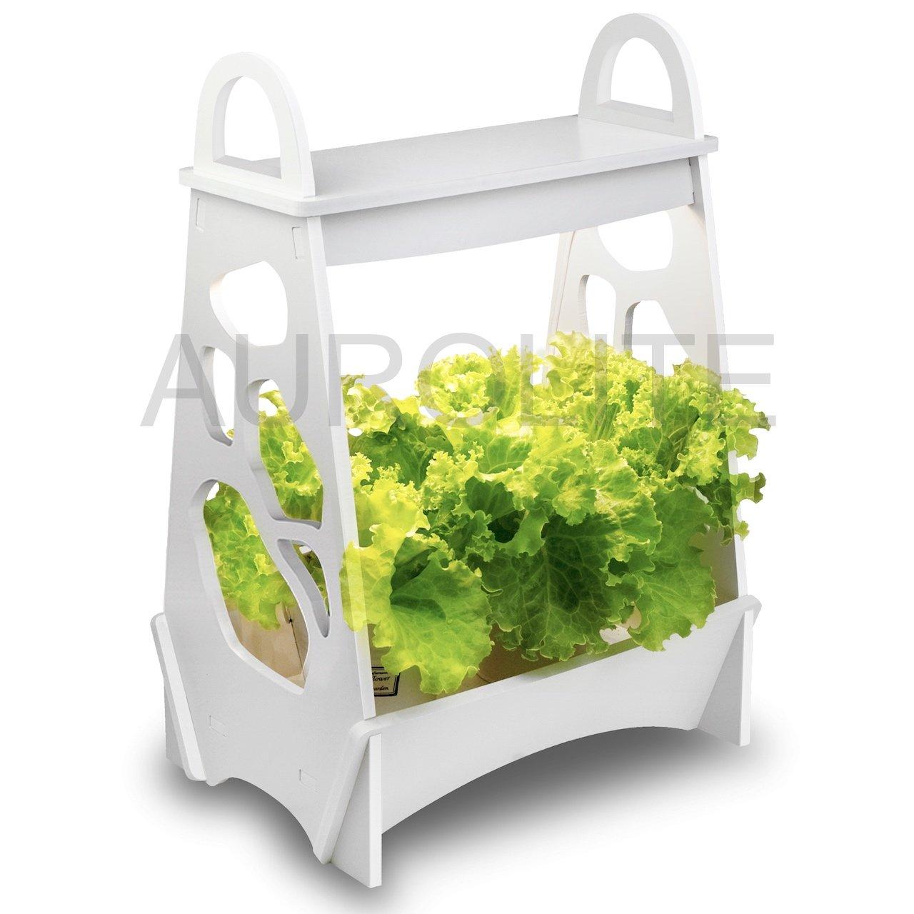 AUROLITE Mini Garden, 14W, LED Plant Grow Light, LED Herb Garden, LED Veg Grow Light, Grow Your Own, 48CM x 13.8CM x 32CM, Ideal for home, office or restaurant (Modern)