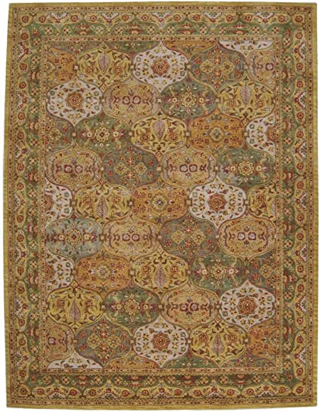 Nourison India House Multicolor Rectangle Area Rug, 8-Feet by 10-Feet 6-Inches 8 x 10 6
