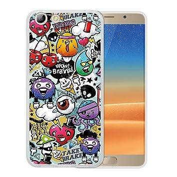 Funda Elephone S7, WoowCase [ Elephone S7 ] Funda Silicona Gel Flexible Grafiti de Colores Divertido, Carcasa Case TPU Silicona - Transparente