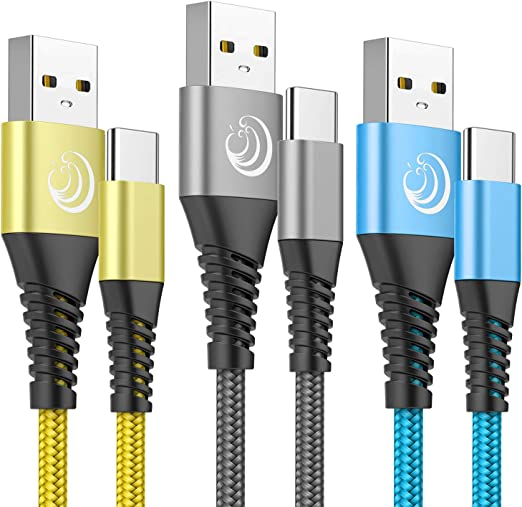 Type C Charging Cable 3A Fast Charge USB C Cable 2Pack 6FT C Cord Phone Charger Fast Charging Cord for Samsung Galaxy S10 S9 S8 Note 9//8 A20 A20e A10e A50 A51 A21 A20s S20 S10e,LG K51 Stylo 4 5,Moto Z