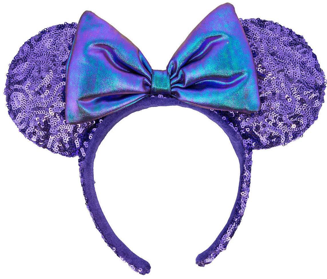 Disney Parks Potion Purple Sequin Irridescent Bow Mickey Minnie Mouse Ears  Headband 8b43b6520d9b