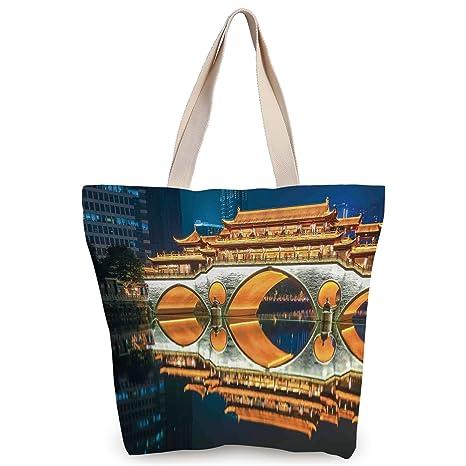 Amazon.com: Funky Canvas Tote Bag,Landscape,Major Popular ...