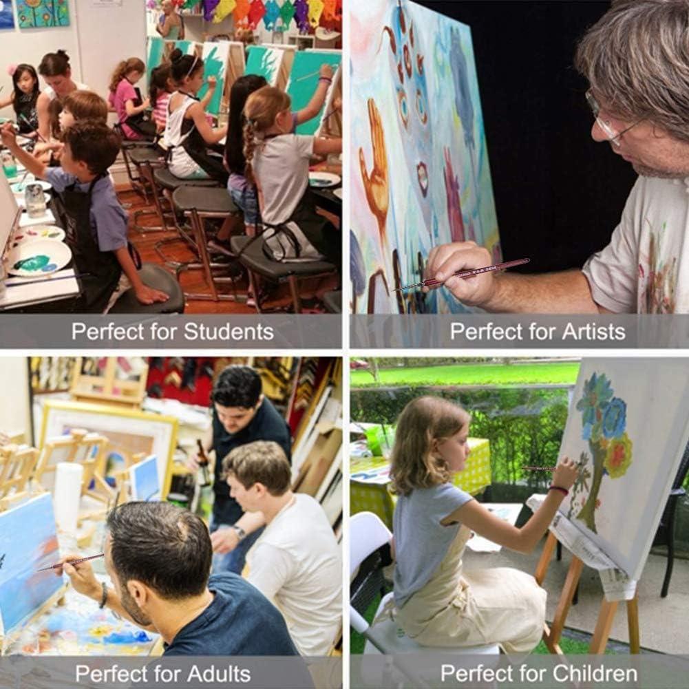 6 St/ück Pinsel f/ür Aquarell Acryl und /Öl Premium Detail Paint Brushes Art Pinsel dgaf/&bae Pinselset Malen Pinselset Fein
