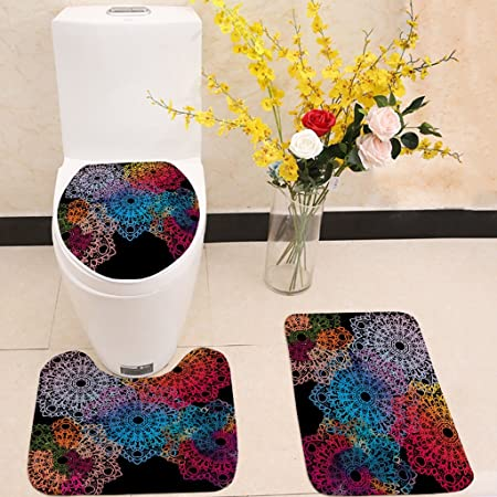 Cool Qqb Bathroom Mat 3 Pieces Bathroom Mats Non Slip Pedestal Gmtry Best Dining Table And Chair Ideas Images Gmtryco