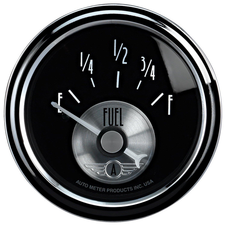 Auto Meter 2014 Prestige Black 2-1/16' 0-90 Ohm Fuel Level Gauge