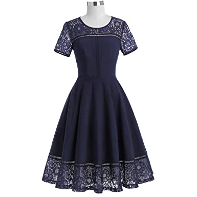 Trendy-Nicer Women Short Sleeve Tea Vestidos Swing Pin up Robe Femme Vintage Jurk,