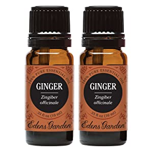 Edens Garden Ginger Essential Oil, 100% Pure Therapeutic Grade (Digestion & Inflammation) 10 ml Value Pack