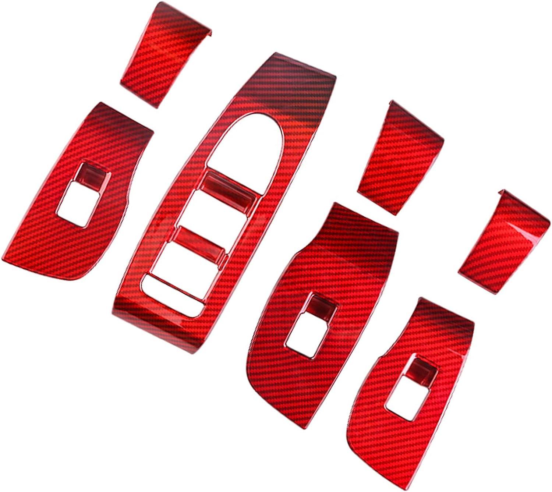 Interieurleisten Kohlefaser Interieurleisten Zubeh/ör Rot 7 St/ück CX30 T/ürverkleidungen Hubtafel Schutz Aufkleber LFOTPP CX-30 Interieur Dekoration