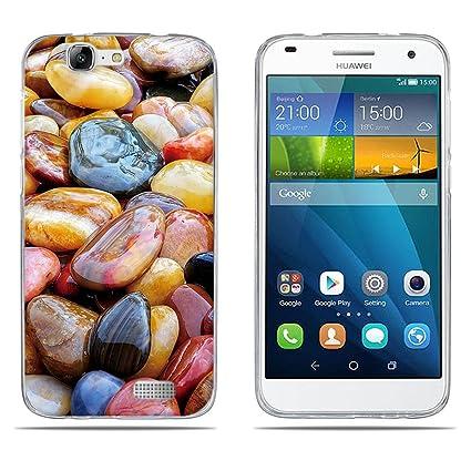 DIKAS Funda Huawei Ascend G7 (L01 L03 C199) Carcasa de Silicona Transparente TPU, Protectora Case Bumper Flexible de Goma de Altisima Calidad para ...