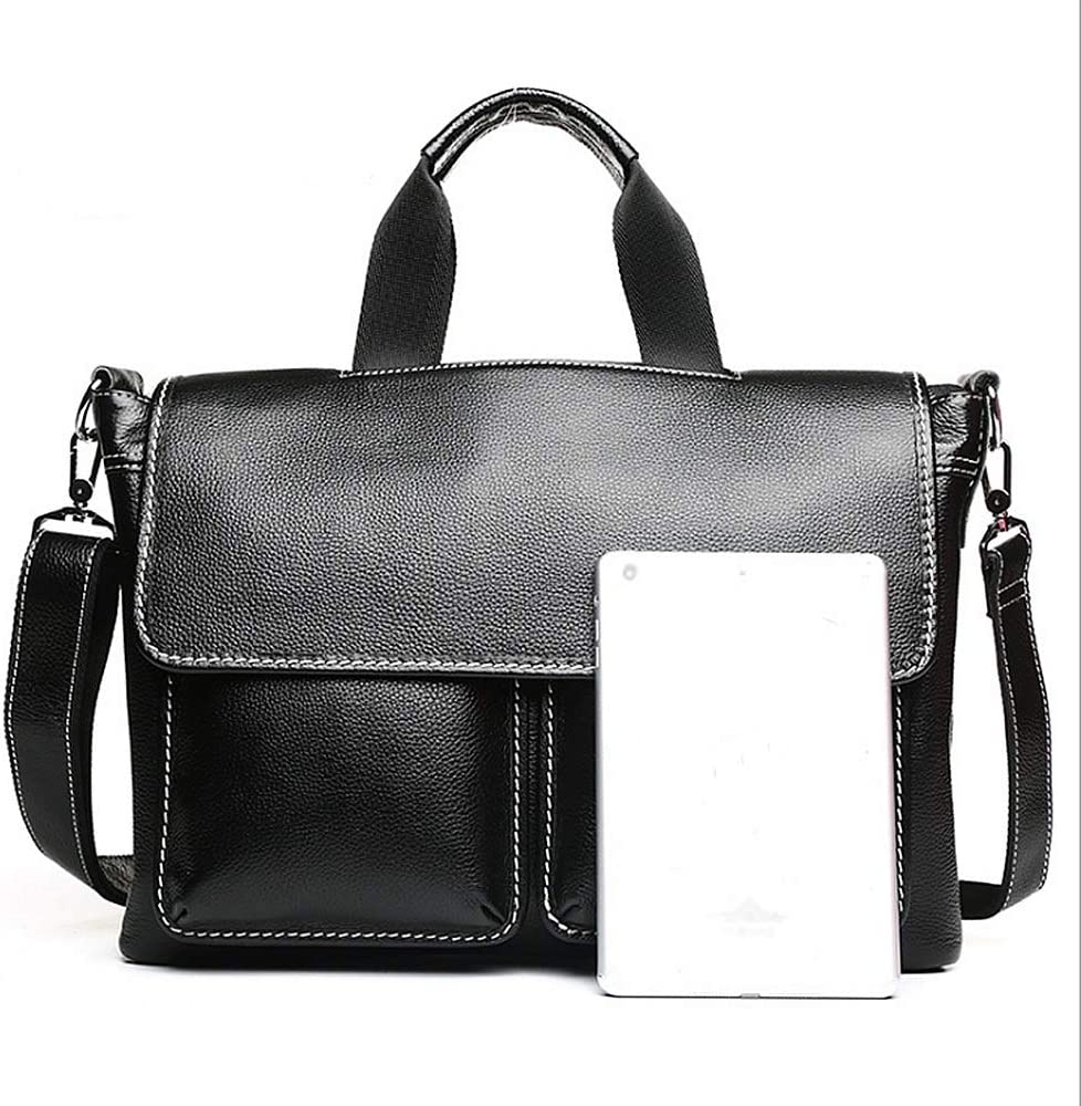 Qiupei Briefcase Scalable Large Size Shoulder Bag Black Travel Briefcase Laptop Bag Storage Bag Waterproof Business Messenger Men and Women Briefcase for Travel Office Business