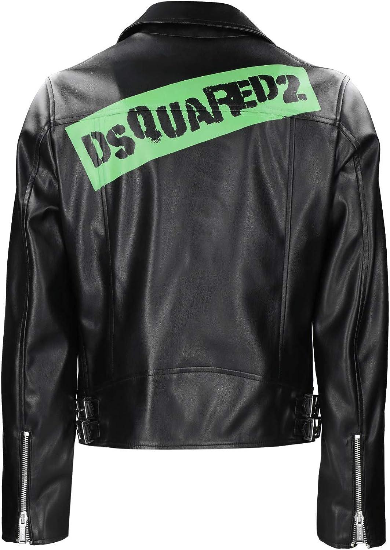 DSQUARED2 Caution Tape Biker Jacket Bambino Junior Boy MOD DQ03VP