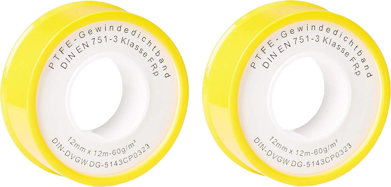 10 Rollen PTFE Band 12m Gewindeband Gewinde Dichtband Dichtungsband 12mm