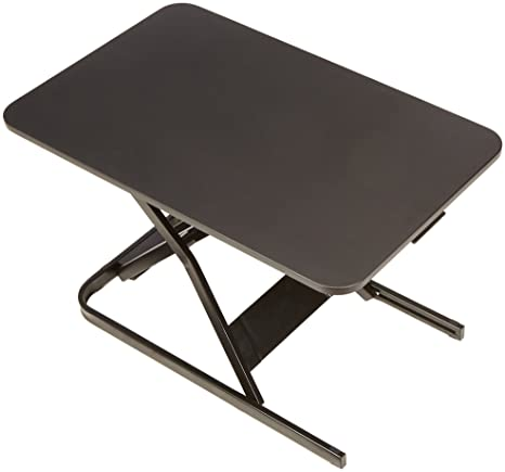 Amazing Amazonbasics Height Adjustable Sit Stand Standing Computer Desk Converter Download Free Architecture Designs Scobabritishbridgeorg