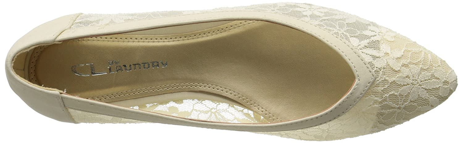 CL by Chinese Laundry Women's Samantha Ballet Flat B00R7TBJXE 6 B(M) US|Beige Lace