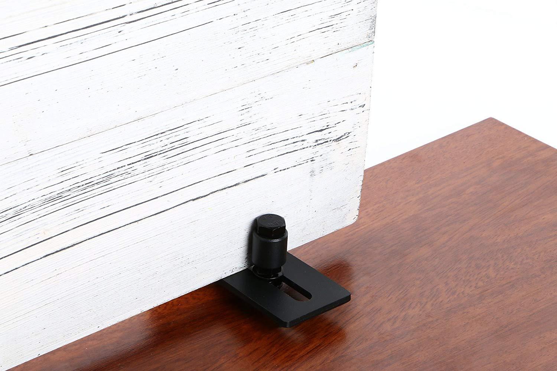Barn Door Floor Guide Flat Floor Friendly Design with Mounting Screws Heavy Duty Wall Mount and Adjustable Bottom Guide Stay Roller Sliding for Barn Door