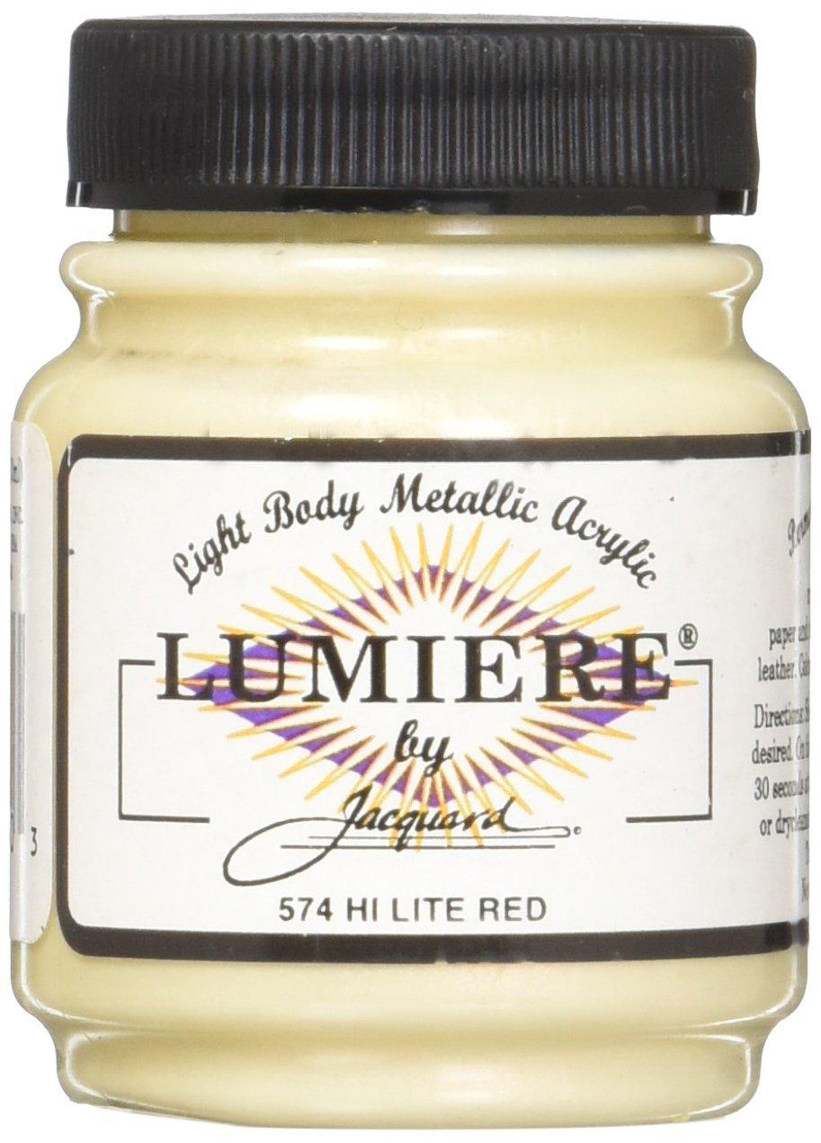 Acrilico Jacquard Lumiere 64gr. Hi Lite Rojo