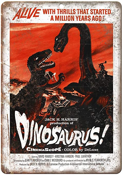 Fluse Dinosaurus Movie Vintage Metal Art Chic Retro Metal ...