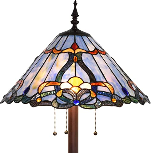 Bieye L10687 Baroque Tiffany Style Stained Glass Floor Lamp