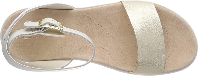 f0812ff407e Botanic Ivy Leather Sandals in Cream. Clarks Botanic Ivy Leather Sandals in  Cream Standard Fit ...