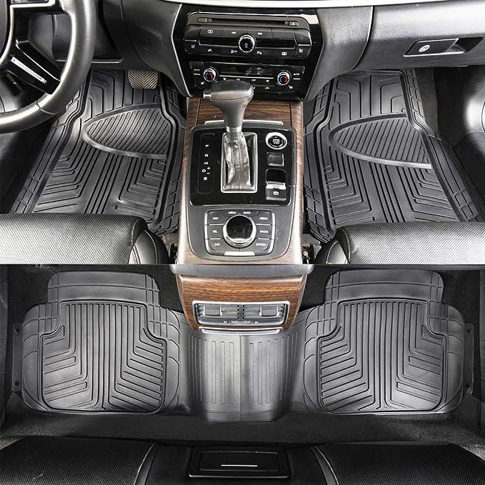 original Audi Q2 ALFOMBRILLAS DE GOMA PREMIUM Estera par todo el a/ño ALFOMBRILLAS DE GOMA 4 PIEZAS JUEGO COMPLETO DELANTERA TRASERA NEGRO