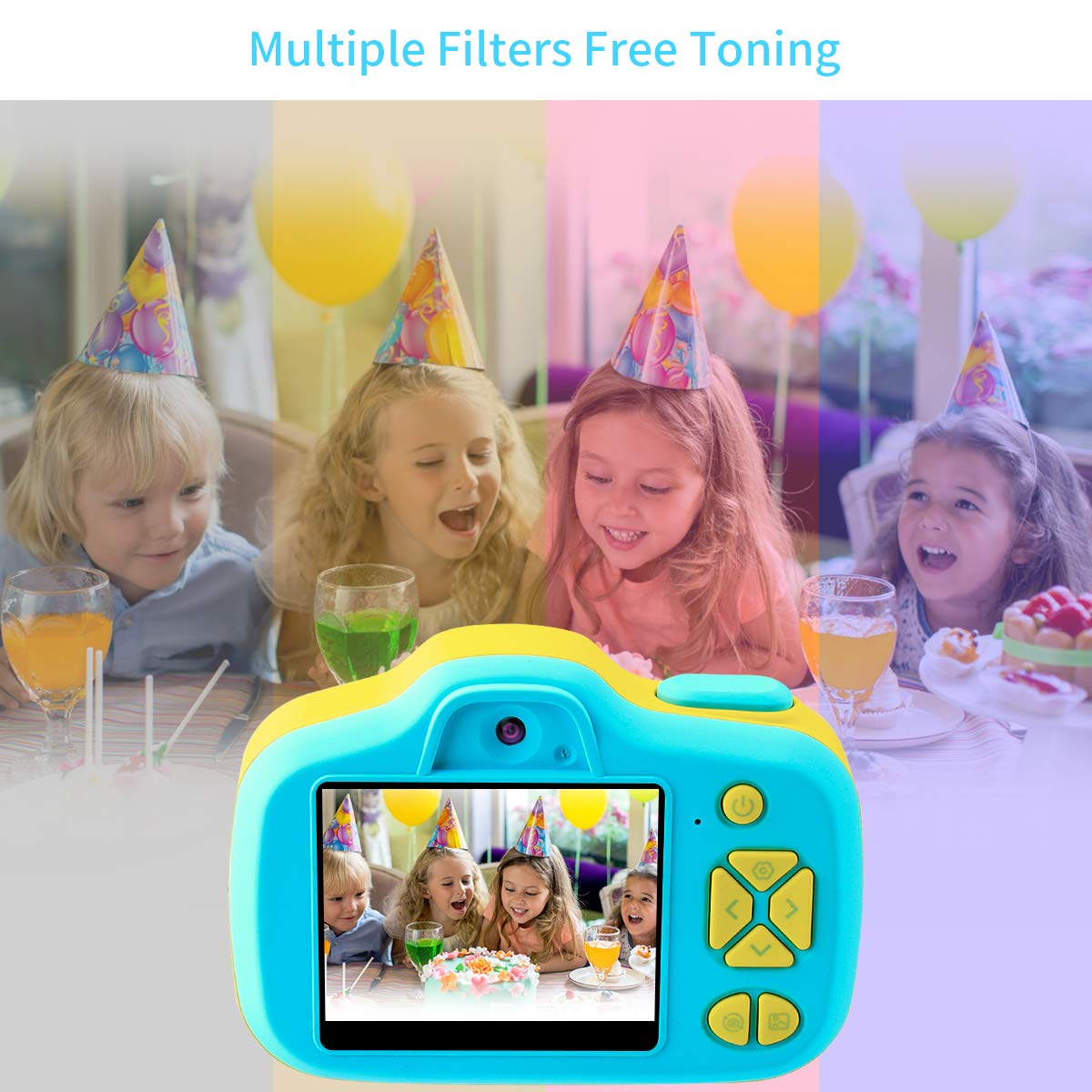 Joytrip Kids Camera Gifts,Front and Rear Selfie Children Camcorder,2.3 Inches Screen,for Boys,Blue by Joytrip (Image #6)