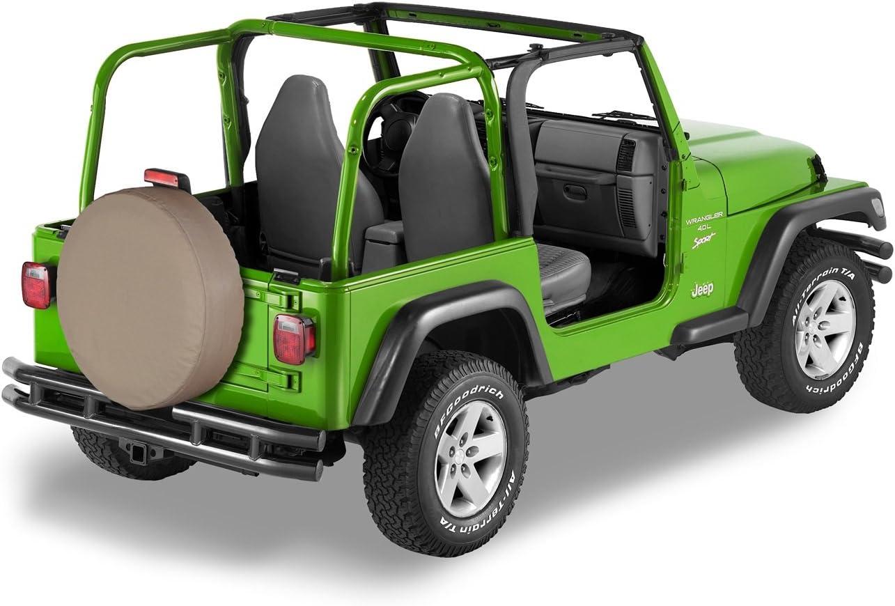 Bestop 61030-33 Dark Tan Large Tire Cover for tires 30 diameter 10 deep 10 deep