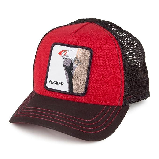 Gorra Trucker Pecker de Goorin Bros. - Rojo-Negro - Ajustable