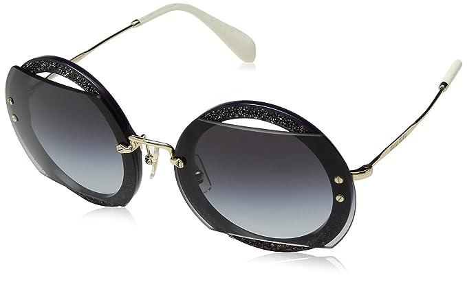 012260471cec Amazon.com  Miu Miu Women s Glitter Reveal Sunglasses