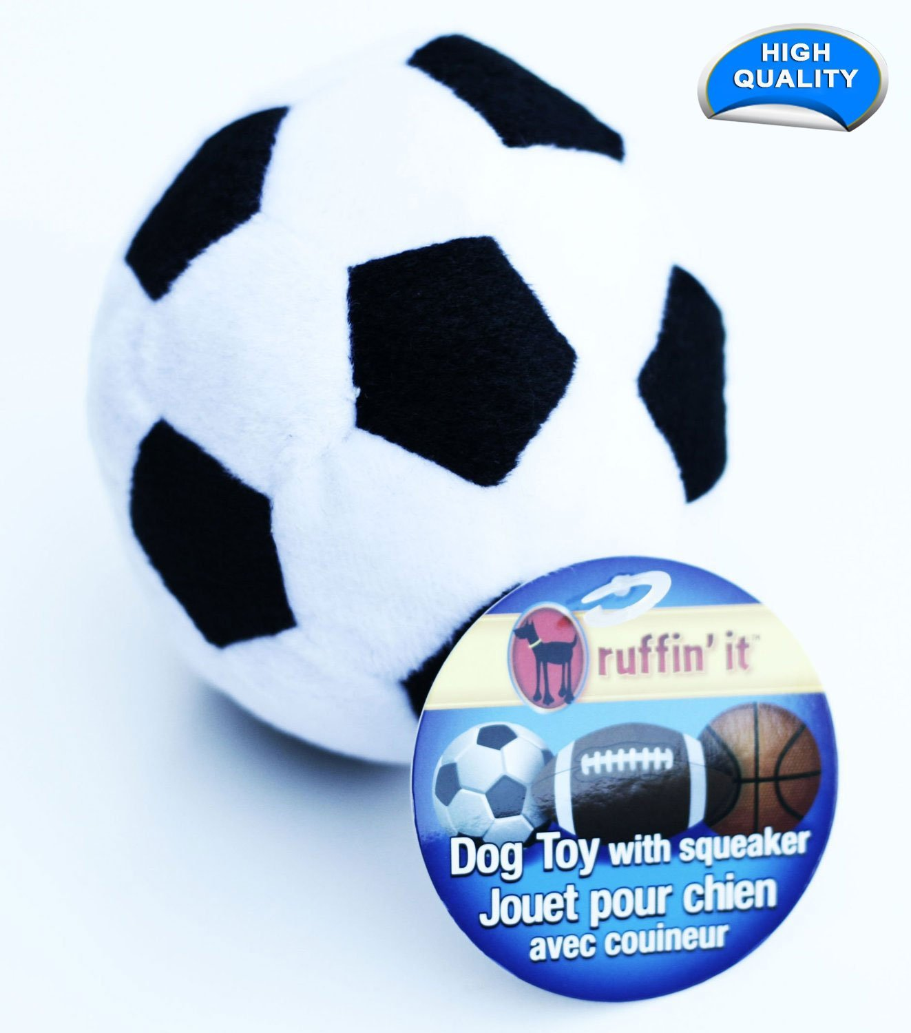 Pet Plush Sport Ball, Soccer, 3-Pack by Ruffin It (Image #2)