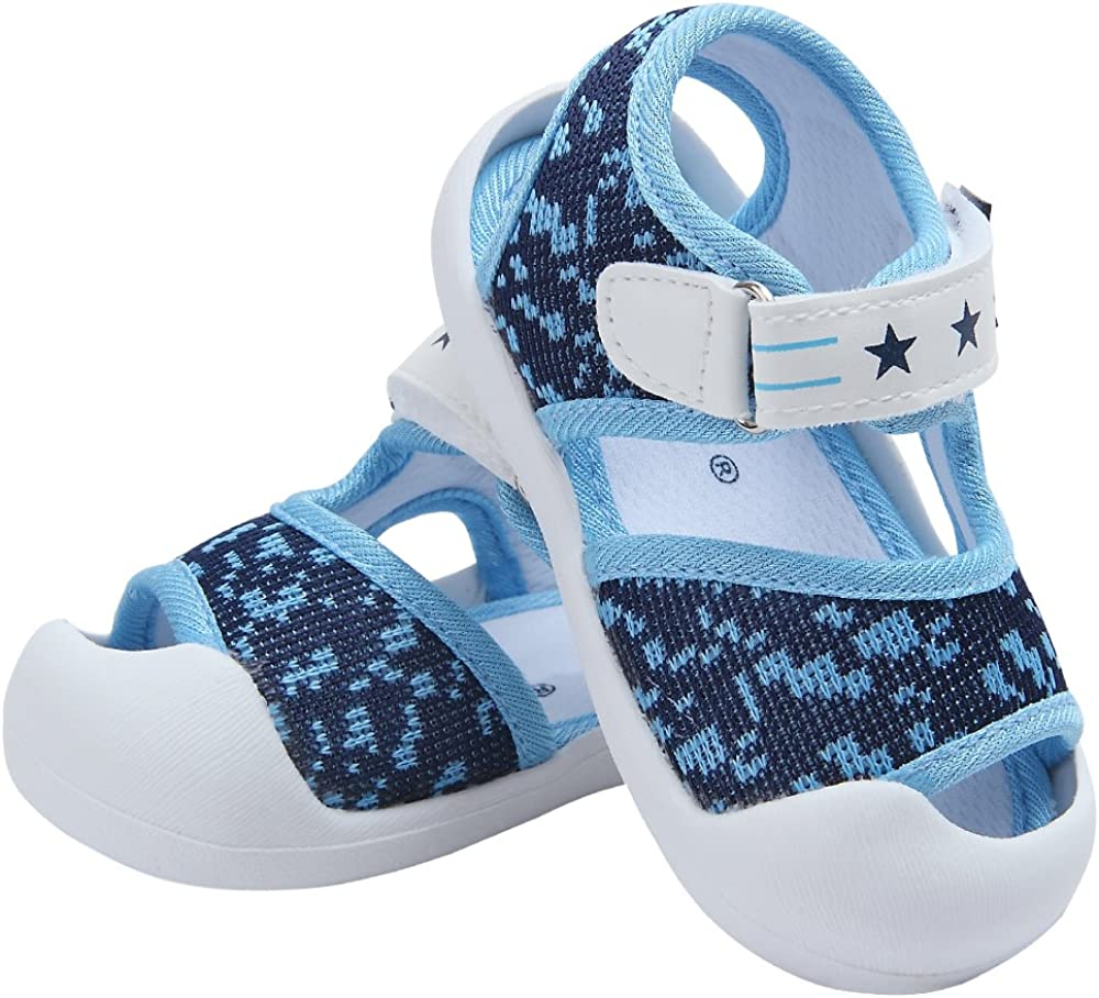 Baby Summer Sandals Breathable Mesh Rubber Sole Non-Slip Outdoor Shoes for Boys and Girls 9-30 Months