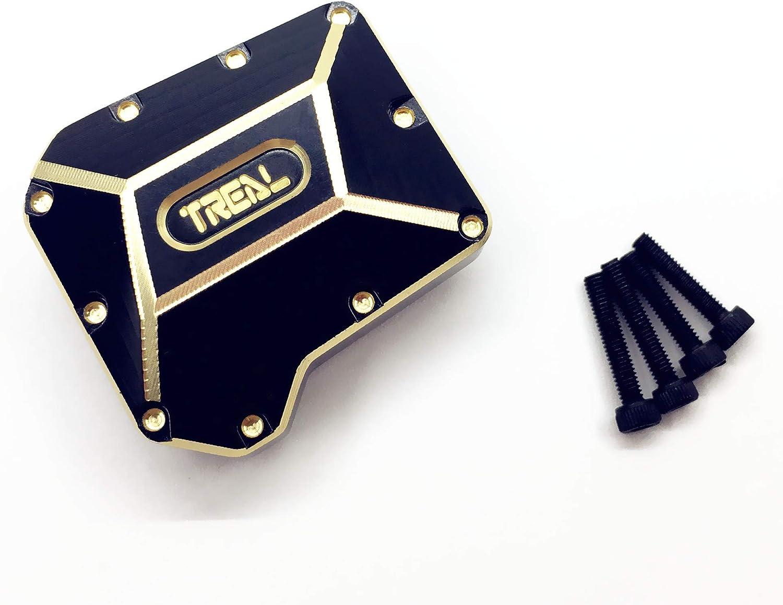 Treal Traxxas TRX-6 6X6 - Cubierta para Eje Trasero (latón, 70 g), Negro