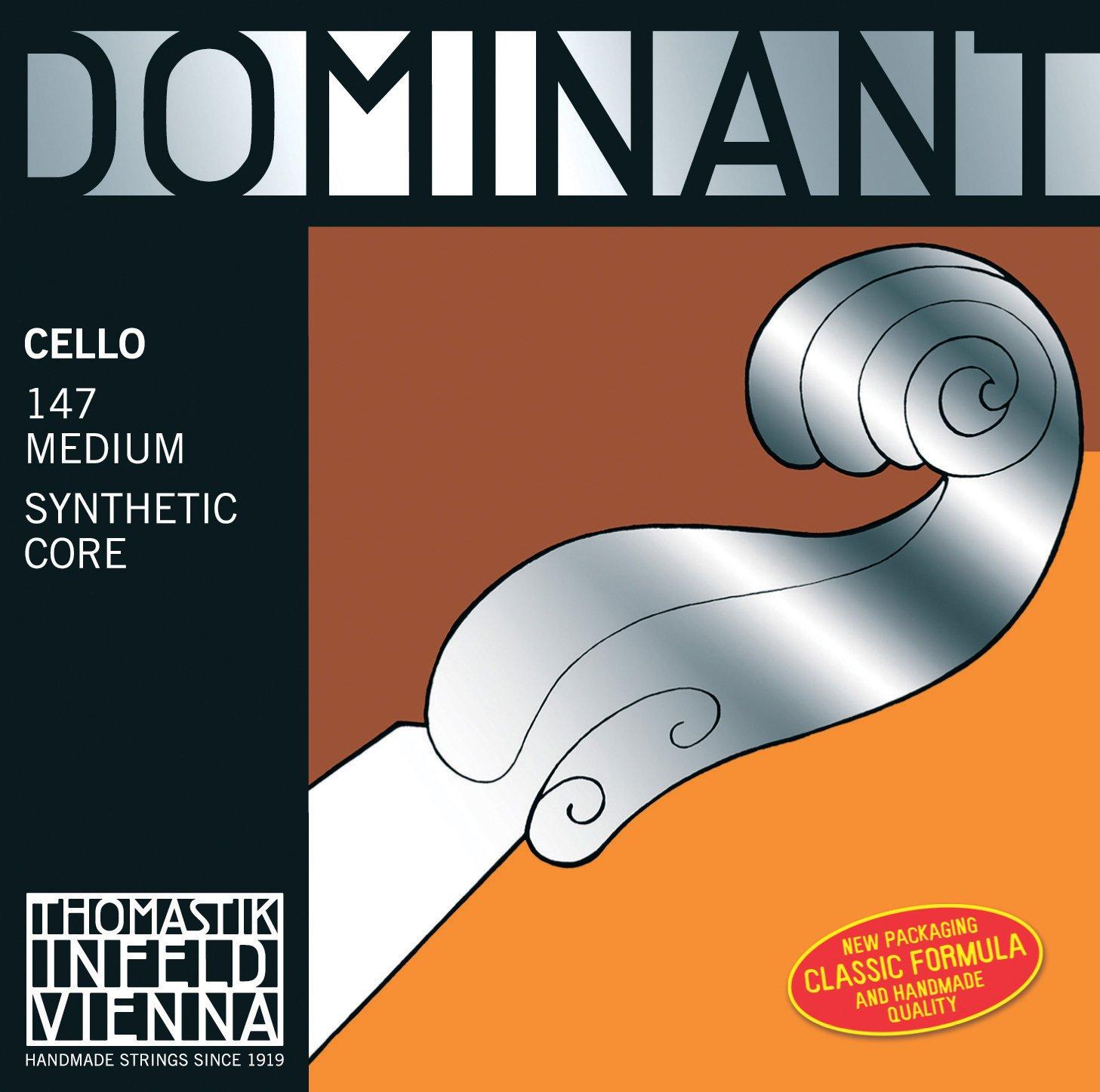 Thomastik-Infeld 142-4/4 Dominant Nylon Core Cello String, Chrome Wound, Medium Gauge, 4/4 Scale, A