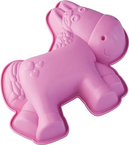 HABA 301147 – Silikon-Kuchenform Pferd Milly | Kuchenform für alle Pferde-Fans| 29 x 24cm, spülmaschinenfest, lebensmittelech