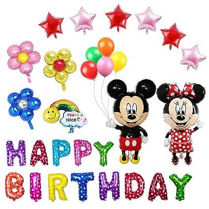 Amazon.com: Juego de 20 globos de Minnie Mouse, para fiestas ...