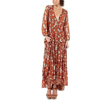 Paule Trevelyan NEW mulheres spring dress marca vestidos florais impressão maxi longo boho elegante vestidos dress
