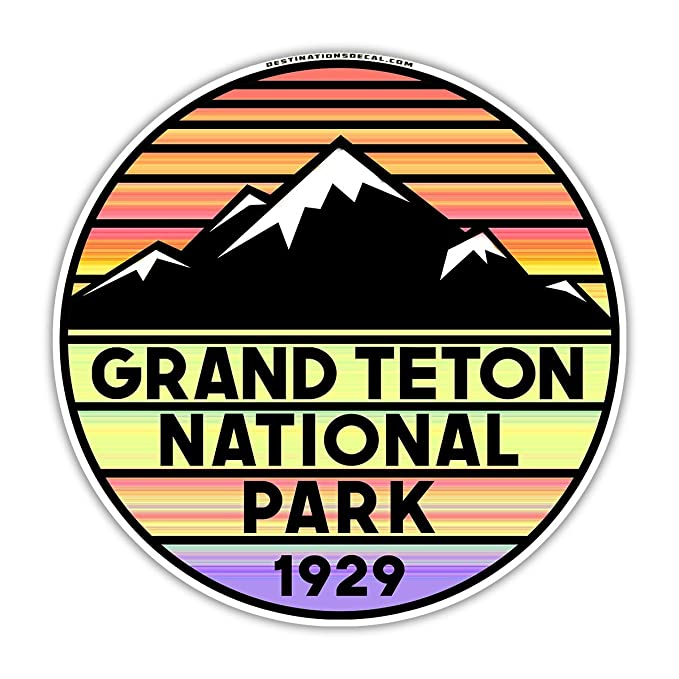 Amazon Grand Teton National Park Wyoming Vinyl Decal Sticker 3