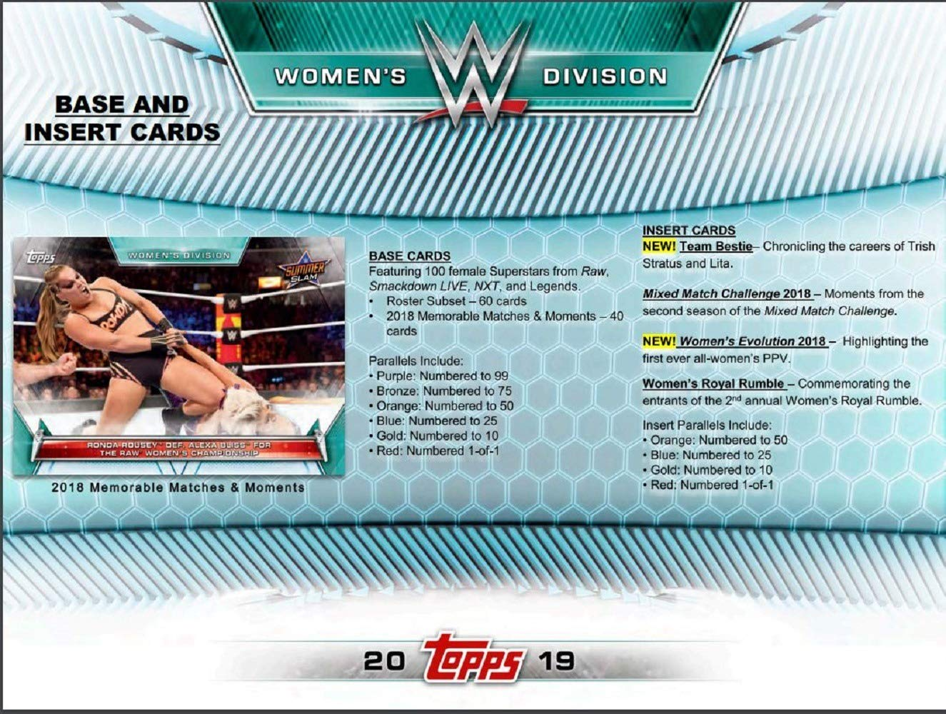 Amazon.com: 2019 Topps WWE Womens Division Hobby 12 Box ...