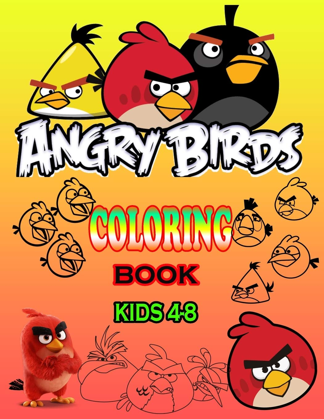 Angry Birds Coloring Book Kids 4 8 Exclusive Angry Bird Coloring Book Great Coloring Pages For Kids Drawing 50 Illustrations Makes For A Great Gift Of Kids House Icolor 9781702474047 Amazon Com Books