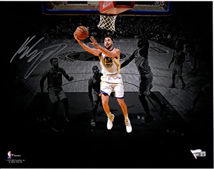 Klay Thompson Golden State Warriors Autographed 11 quot  x 14 quot  Layup  Spotlight Photograph - Fanatics d4c6c5218